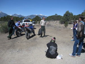 10th graders experience multi-use examples from BLM instructors
