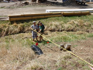6th graders work on a trail restoration project