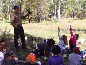 3rd graders learn from a CO Parks & Wildlife instructor